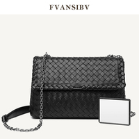 Women Bag Leather Soft Chain Shoulder Bag Hand Woven 2020 Autumn And Winter New Fashion Bag Luxury Brand Large Capacity Bag Spot