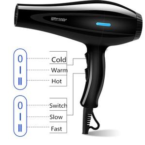 Image 2 - Sèche cheveux 220V, buse dair pour peigne sèche cheveux, diffuseur dair chaud et froid, soufflant pour la maison et le Salon, coiffure 4 3d