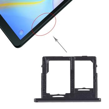 iPartsBuy SIM Card Tray + Micro SD Card Tray for Galaxy Tab A 10.5 inch T595 (4G Version) ipartsbuy sim card tray nm card tray for huawei p30