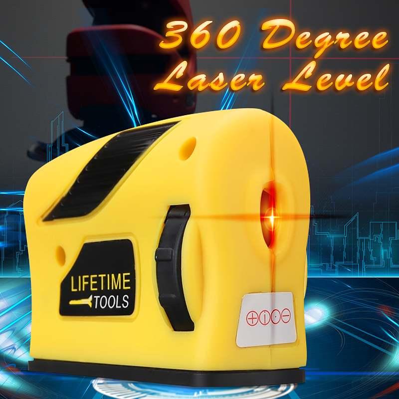 360 Degrees Mini Style Self-Leveling Laser Level Horizontal Vertical Cross Line Measurement Gauge Tool