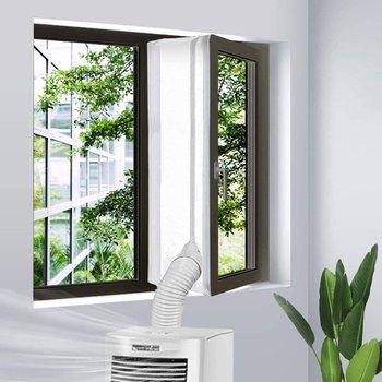 Placa de sellado de aire acondicionado para ventana, cubierta suave de deflector,...