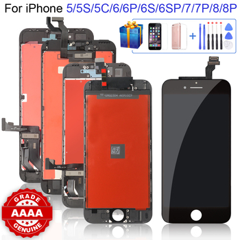 Grade AAAA+++ for iPhone 6 6S 6P 6SP 7 7P 8 8Plus LCD with Perfect 3D Touch Screen Digitizer Assembly for iPhone 5S 5 5C Screen