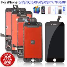Klasa AAAA + + + dla iPhone 6 6S 6P 6SP 7 7P 8 8Plus LCD z doskonałym ekranem dotykowym 3D Digitizer montaż dla iPhone 5S 5 5C ekran tanie tanio CN (pochodzenie) Pojemnościowy ekran 1334x750 2-3 LCD i ekran dotykowy Digitizer Apple iphone Iphone 6 s Iphone 5c Iphone 6 Plus