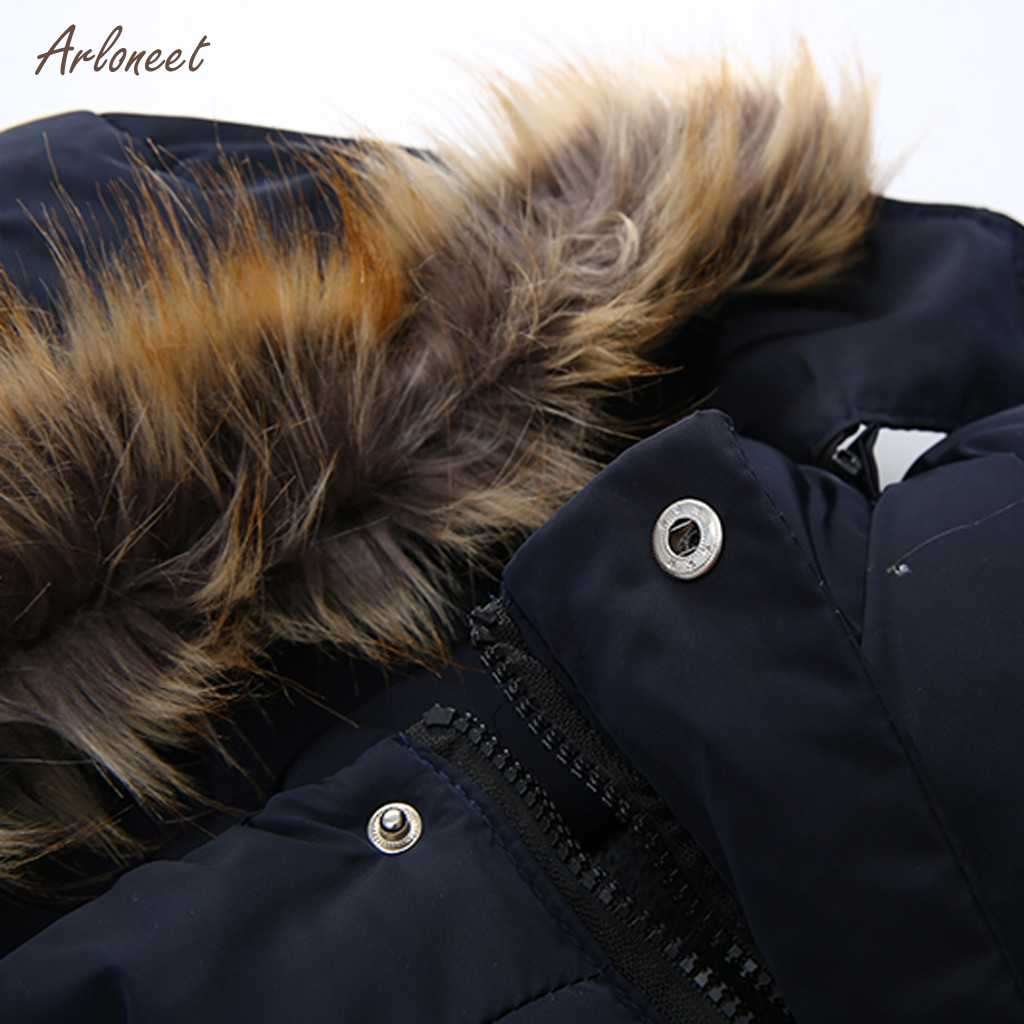 ARLONEET/куртки для маленьких мальчиков 2019 г., осенне-зимние куртки с буквенным принтом для мальчиков, одежда детское пальто теплая верхняя одежда с капюшоном для мальчиков, пальто