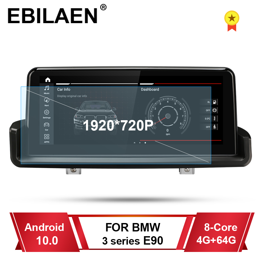EBILAEN Car Multimedia Player for BMW E90 E91 E92 E93 Android 10.0 Autoradio Navigation 10.25' Headunit Screen Idrive Carplay image