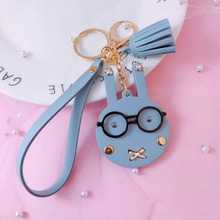 New Women Girls Cartoon Mini Coin bunny Bag  Change Purse Wallet Mickey Pendant Keychain for Student Kids Gift Small Storage Bag etya women coin purse cartoon cute headset bag small change purse wallet pouch bag for kids gift mini zipper coin storage bag