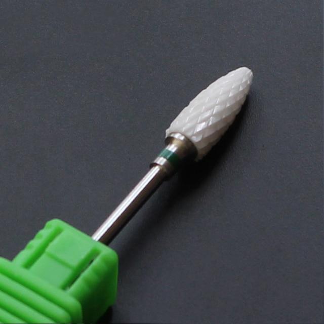 Ceramic Nozzle Nail Art Drill Bit Mill Cutter For Nail Electric Drill Manicure Machine Device Accessory Remove Acrylic polish 2