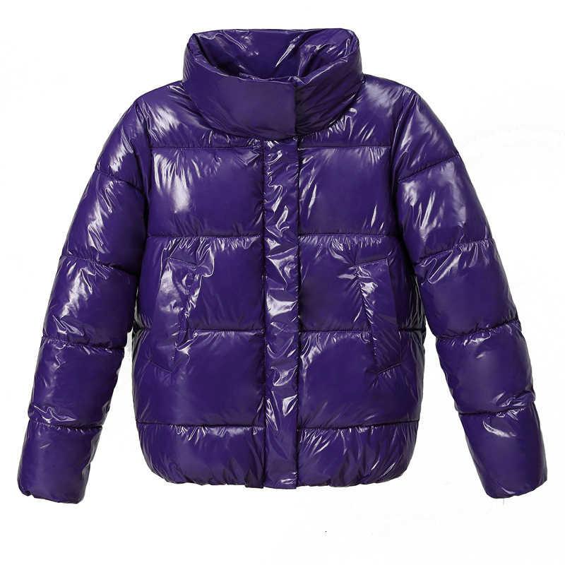 Зимняя теплая Женская парка короткая куртка с глянцевым пухом, водонепроницаемая верхняя одежда, зимние свободные теплые пальто