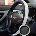 38 см рулевого колеса автомобиля крышки протектор для женщин и девочек шикарные Стразы Кристалл украшение интерьера автомобиля авто аксесс...