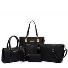 2019 conagy women shoulder bags and bags Composite bag oxford Handbag Shoulder Bag Wallets Purse Key Bag Set цена и фото