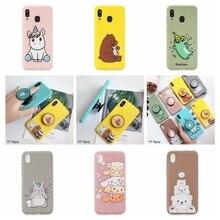 Kawaii Case on for Samsung A10 A20E Phone Unicorn Stand Holder Silicone Cover Galaxy A20 A10E M10