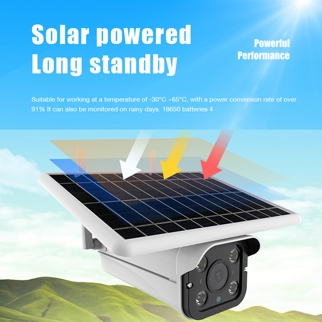 Hebeiros 4G LTE FDD GSM HD 1080P Solar Battery Wireless Outdoor Camera Waterproof Audio 2MP Security Surveillance CCTV IP Camera 3