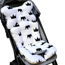 3D Air Mesh Cotton Soft Seat Pad Baby Stroller Seat Breathable Liner For Stroller Car Grey/White Newborn Pushchairs Accessories(China)
