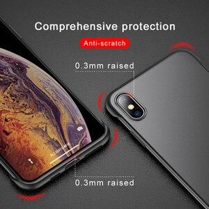 Image 3 - ללא מסגרת מקרה עבור iPhone 7 מקרה שקוף מט קשיח טלפון כיסוי עבור iPhone XR XS מקסימום X 7 6 6s 8 בתוספת עם אצבע טבעת מקרה