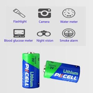Image 5 - 4 X PKCELL 2/3A pil CR123A CR123 CR 123 CR17335 123A CR17345(CR17335) 16340 3V lityum pil piller için kamera
