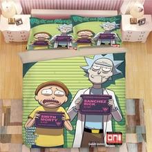 Rick and Morty 3D Bedding Set Duvet Covers Pillowcases Sanchez Adult Animation Comforter Sets Bedclothes Bed Linen