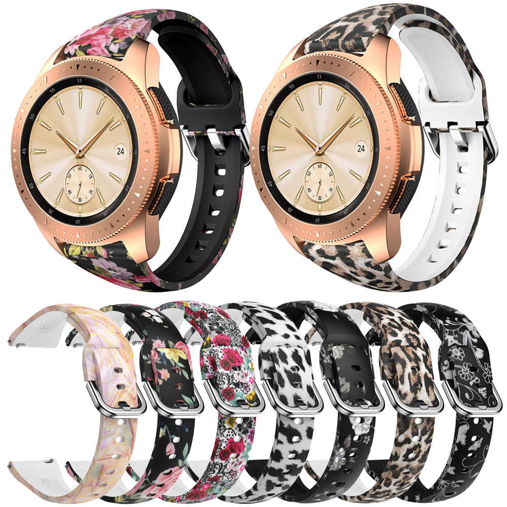 Bracelet en Silicone 20mm pour Samsung Galaxy Watch, Active2 42mm 40/44mm, Gear S2 Active 2 Huami Amazfit bip