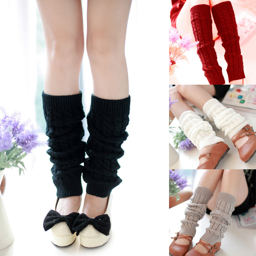 Women Long Boots Stockings Hot Sale High Knee Leg Warmers Long Socks Leggings Fashion Soft Winter Knitted Crochet Scoks Crochet