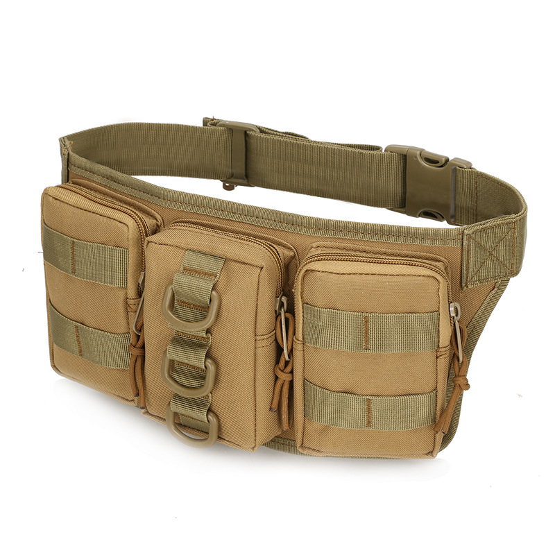 Triple Small Wallet Camouflage Outdoor Training Wallet Outdoor Sport Waist Bag Us Military Tactical Waist Pack Outdoor Mountain