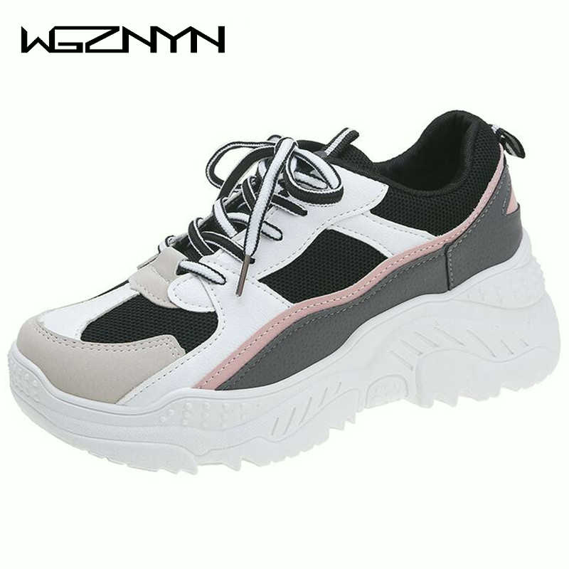 2020 Platform Spring Sneakers Women Fashion Female Sneakers With High Sole Shoes Woman High Top Chunky Sneakers Zapatillas Mujer
