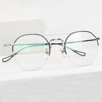 Custom Fill Prescription Glasses Full Titanium Blue Light Blocking Computer Glasses Frame Prescription Women Clear Eye Glasses