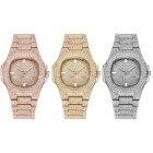 HIP HOP Gold Watch M...