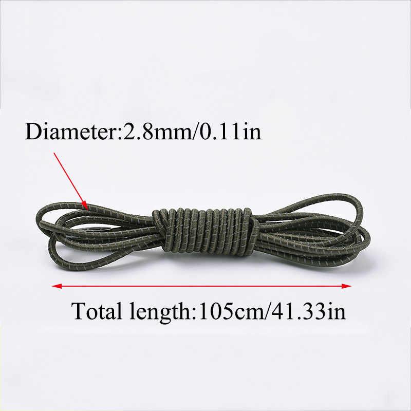 1 זוג רעיוני למתוח שרוכי צבעים זוהר עצלן Shoeslaces האופנה גומייה 105cm שרוכי מיתרים יוניסקס