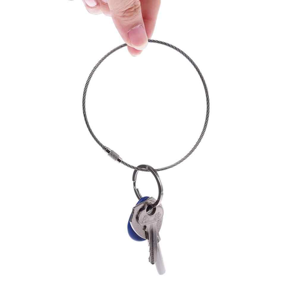 สแตนเลสสตีลสายพวงกุญแจ Chain กระเป๋าเชือก