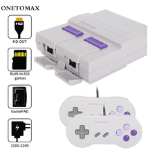 цена на Mini 8 Bit Retro Video Games Console TV Game Console Built-in 821 Classic Games 2 Controllers Handheld Gaming Player Kids Gift