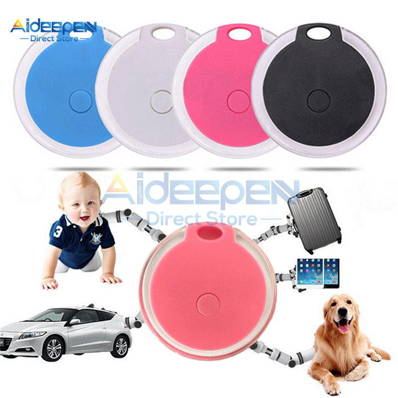 Mini Waterproof Phone Bluetooth Tracker Locator Anti-Lost Theft Device Alarm Remote GPS Tracker Child Pet Bag Wallet Key Finder
