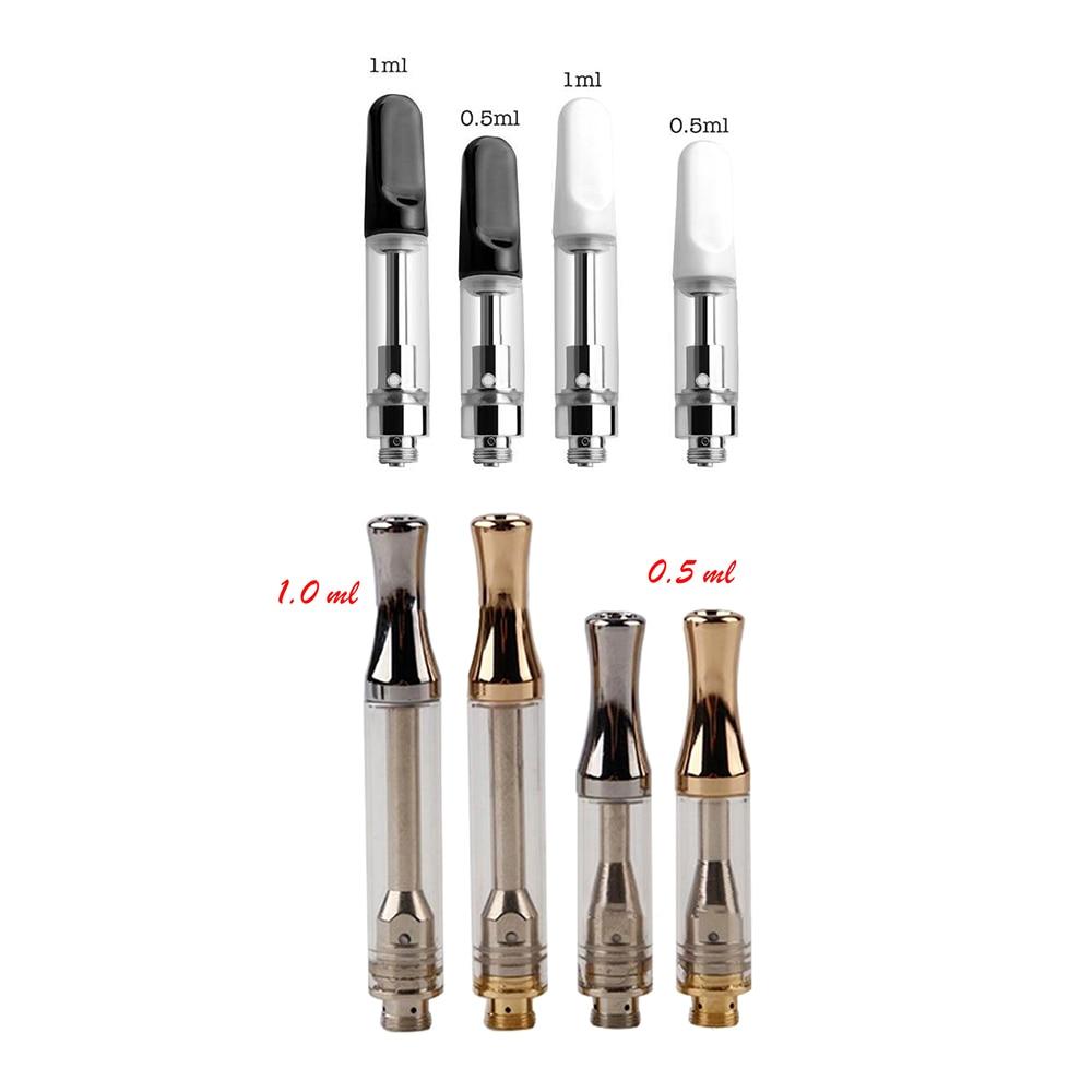 Atomizer TANK  Vape Ceramic Mouthpiece Refill Cartridge Ceramic Coil 510 Thread Vape Pen Tank 0.5ml&1ml For CBD And Thick Oil
