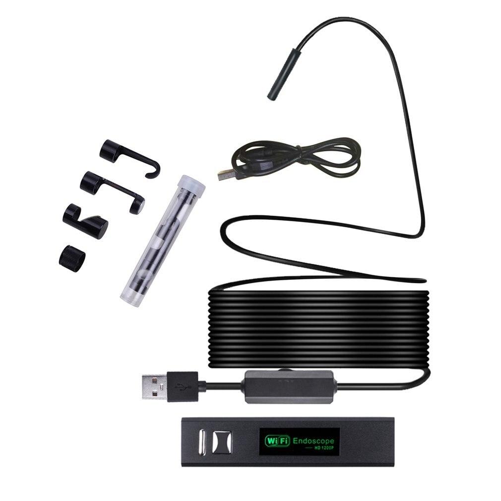 720 P/1200 P WIFI эндоскоп камера Мини водонепроницаемая Инспекционная камера 8 мм 10 м USB эндоскоп бороскоп IOS эндоскоп для Iphone