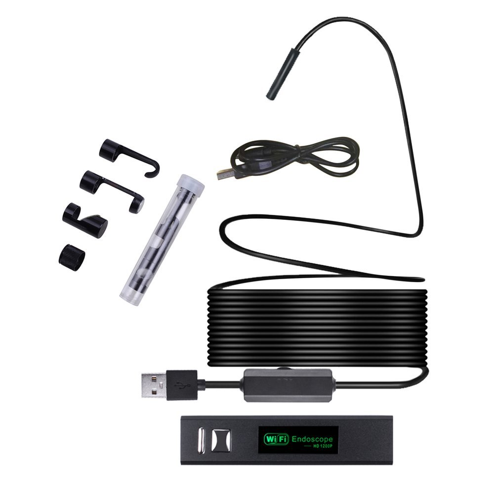 720P/<font><b>1200P</b></font> WIFI <font><b>Endoscope</b></font> Camera Mini Waterproof Inspection Camera 8mm <font><b>10M</b></font> USB <font><b>Endoscope</b></font> Borescope IOS <font><b>Endoscope</b></font> For Iphone image