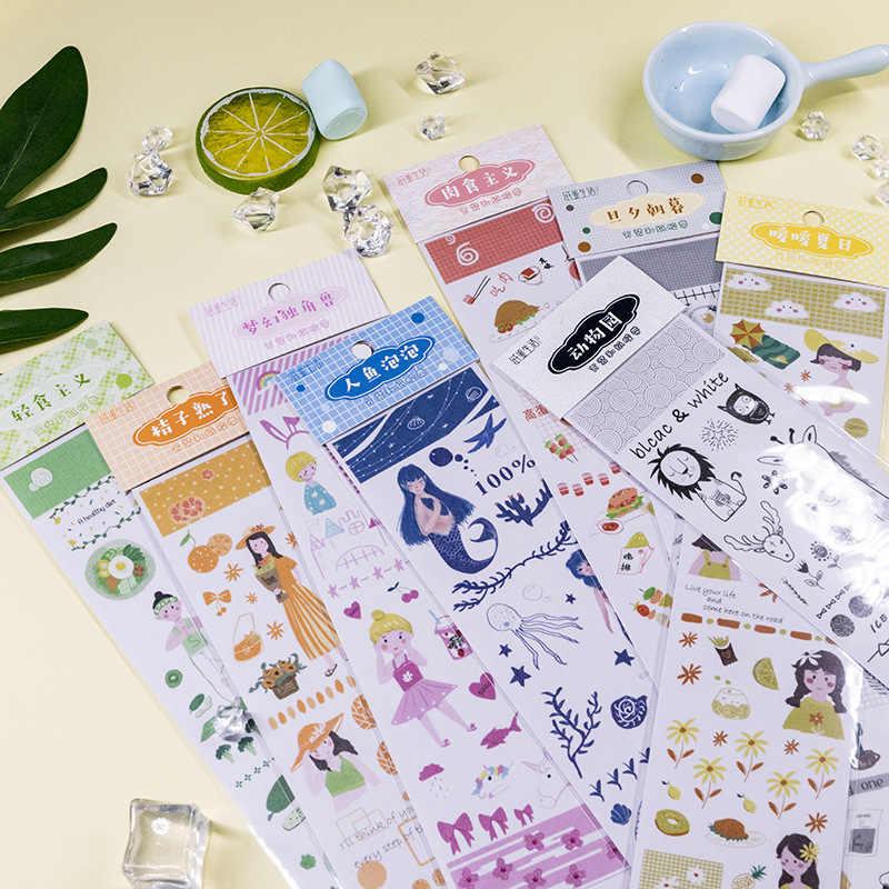 Cinta Washi 2020 para chica joven, cinta adhesiva decorativa DIY para álbumes de recortes, conjunto de cintas adhesivas, etiqueta Washi