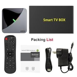 Image 5 - A95X F3 powietrza 8K światło rgb tv, pudełko z systemem Android 9.0 procesor Amlogic S905X3 4GB 64GB Wifi 4K 75fps Netflix Youtube pudełko Android tv odtwarzacz multimedialny X3