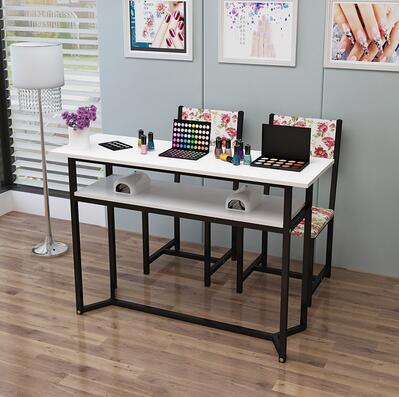Стол для маникюра, одиночный двойной стол для маникюра, специальная цена, экономичный простой современный стол для маникюра и стула - Цвет: 100CM