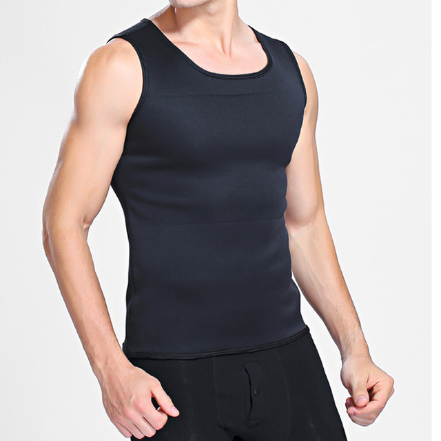 Mens Body Shaper Vest Modeling Fat Burning TShirt Black Slimming Belt Belly Sweat Weight Loss Waist Trainer 2