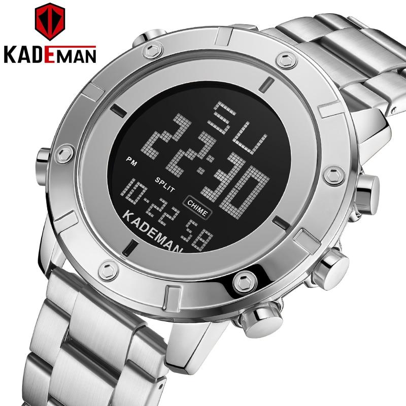 KADEMAN Men Watch Waterproof Sports Digital Watches Top Brand Luxury Fashion Chronograph Wristwatch Male Watches Reloj Hombre