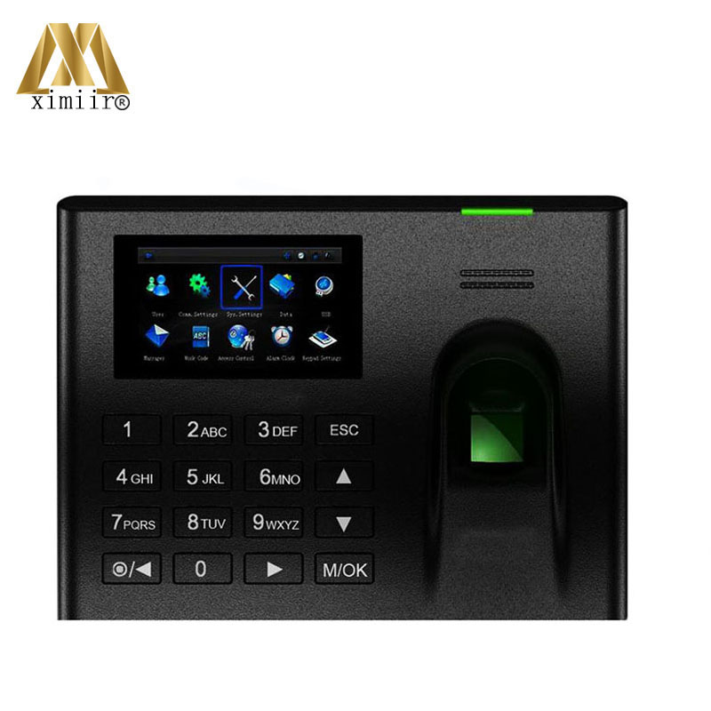 UA100 ZK Biometric Fingerprint Time Attendance Linux System TCP/IP Web Based Employee Time Recording Time Clock System