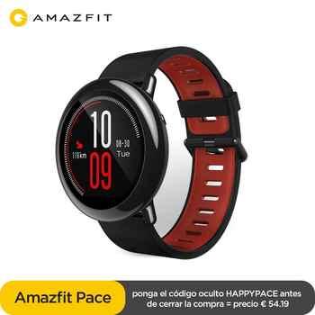 Original Amazfit rythme Smartwatch Amazfit montre intelligente Bluetooth GPS Information pousser la fréquence cardiaque moniteur Intelligent pour Android
