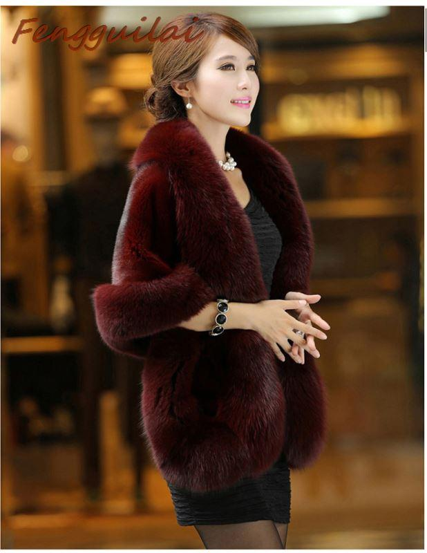 Winter Faux Fur Coat Elegant Thick Warm Solid Coat Jackets For Women Fashion Coats Trendy Femme Clothing Outerwear Abrigo Mujer