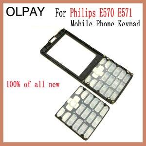 Image 2 - 100% новая Оригинальная клавиатура сотового телефона Philips E570 E571 CTE570 для Philips E570 E571 CTE570
