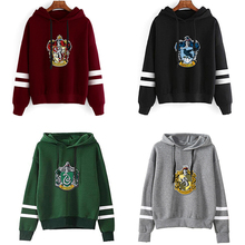 Cosplay Costume Sweatshirts Hoodies Hogwarts Potter Ravenclaw Hufflepuff Jacket Woman