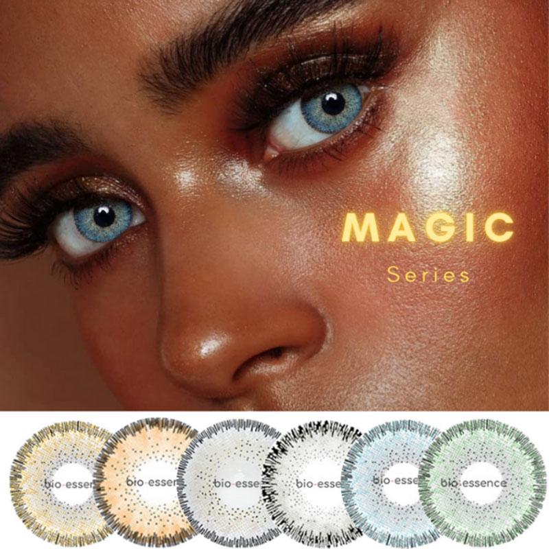 Био-эссенция, официальные синие линзы, 1 пара (2 шт.), Волшебная серия, цветные контактные линзы для глаз, линзы, цвет глаз, оптовая продажа