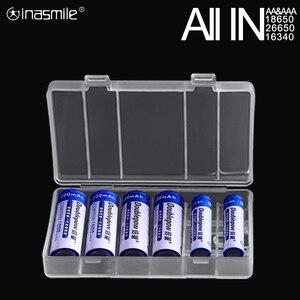 Image 1 - すべてのために18650 26650 16340電池ホルダー収納ボックス2 4 8 aa aaa充電式バッテリーコンテナオーガナイザー