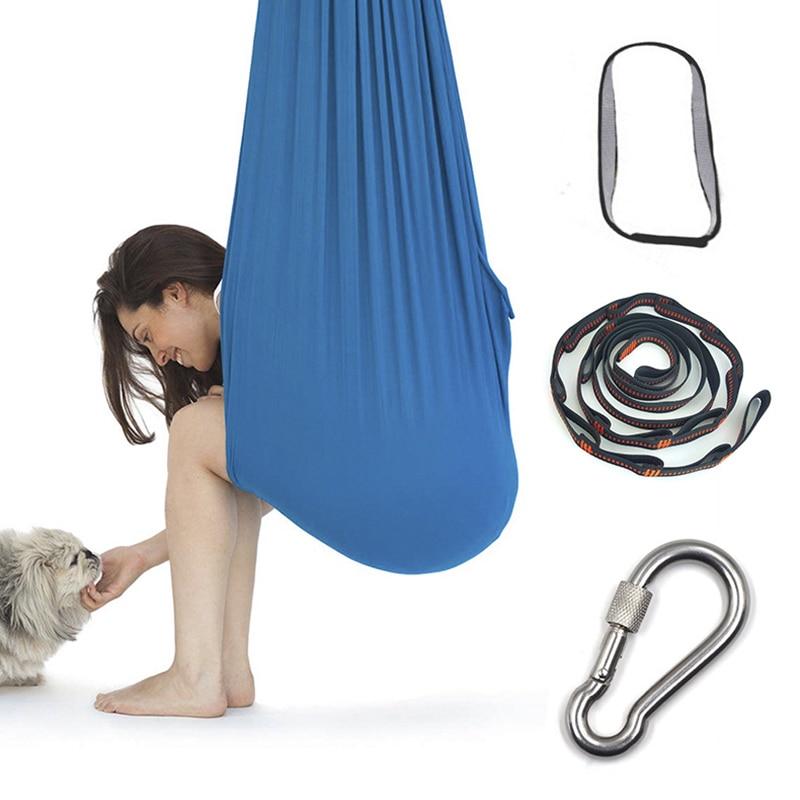 Hamac doscillation de coton denfants pour le tdah dautisme ajoutent la thérapie câliner jusquà la thérapie sensorielle denfant