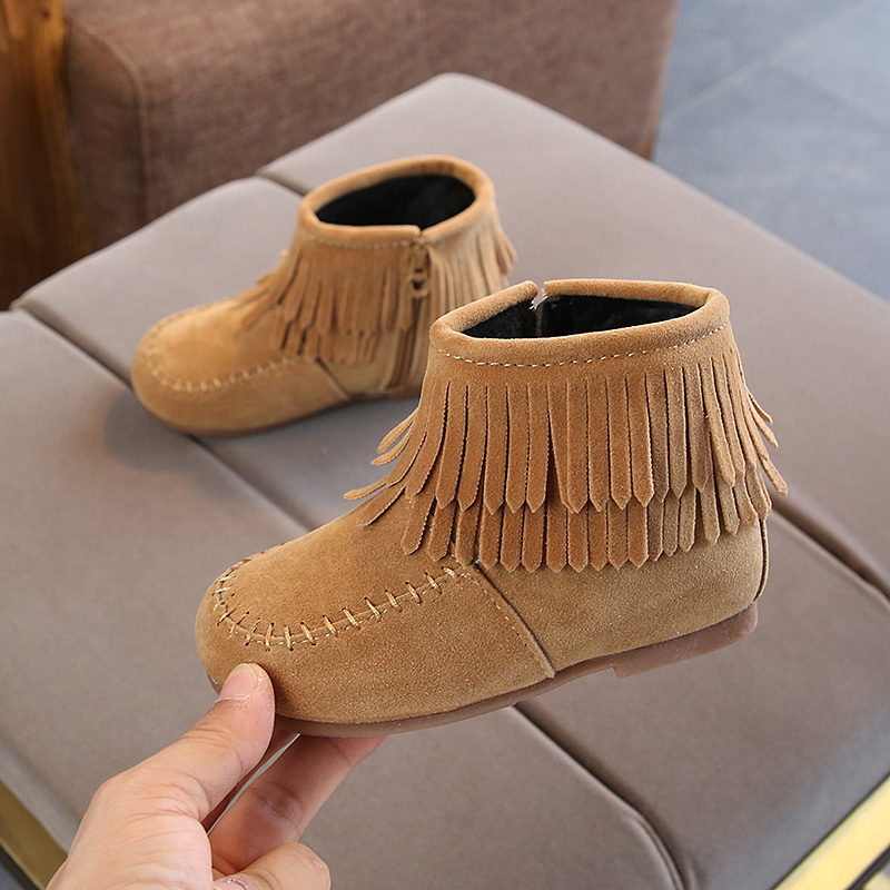 Winter autumn shoes kids summer brown boots toddler girl cute dress shoes tassel boots cute princess shoes toddler children shoes party upgrade d30