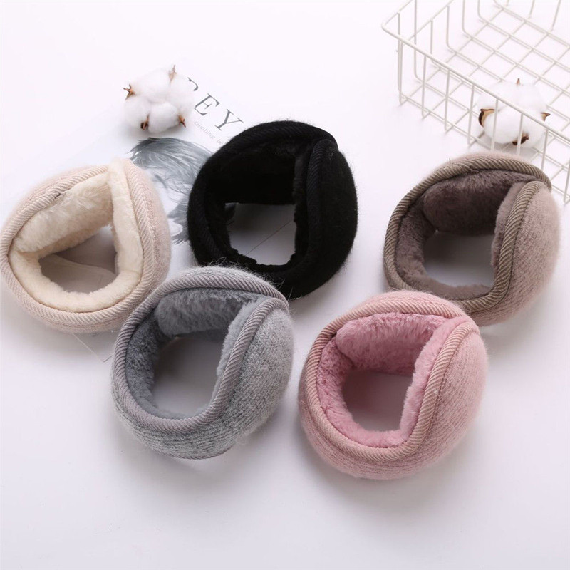 Fashion Unisex Solid Earmuffs Winter Warm Adults Cute Ear Muffs Thicken Plush Ear Warmer For Girls Winter Accessories