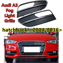 Auto styling Front lower Auto Ersatz zubehör für Audi  A3 S3 fließheck ABS Nebel licht grille nebel lampe rahmen 2014 2015 2016