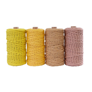 Image 2 - 3mm 100% Cotton Cord Colorful Cord Rope Beige Twisted Craft Macrame String DIY Home Textile Wedding Decorative supply 110yards